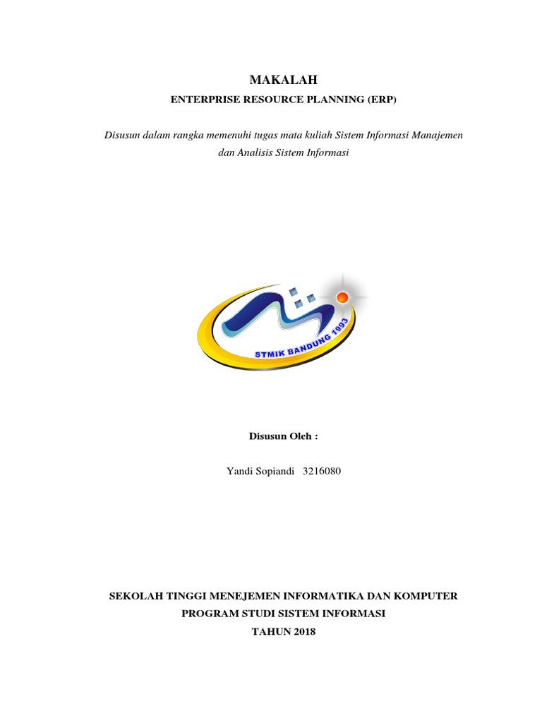 Pdf Makalah Enterprise Resource Planning Erp Penerapan Erp Enterprise Resource Planning Pada Pt Astra Agro Lestari Carlin Kid Academia Edu