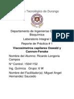 Práctica #1 Viscosimetros Capilares