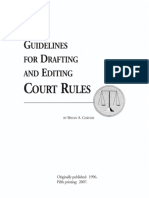 Guide for Drafting and Editing Court Rules