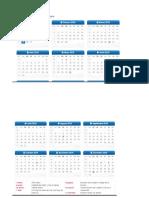 Calendario Por Semanas 2018