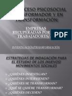 Las Investigaciones en Psicologia Social Historica
