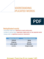 Understanding Reduplicated Words