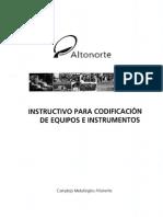 Instructivo Para Codificación de Equipos e Instrumentos