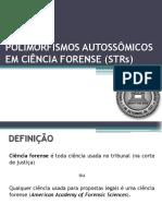 Modulo I - Aula 6 - Ciencia Forense - STR Autossomica