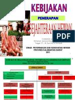 Kebijakan Penerapan Kesrawan Di Prov Kalbar 2011