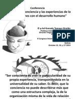 La Nocion de Conciencia y Las Experiencias de Lo Real Relaciones Con El Desarrollo Humano