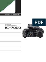 Icom IC-7000 Instruction Manual