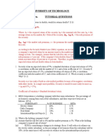 FOF Unit 4 - Risk - Return Tutorial Answers 1