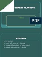 Topic 2 Procurement Planning