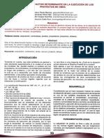 Gestión Predial, Factor Determinante en La Ejecución de Los Proyector de Obra. Pardo,g; Pérez,E; Vargas,J; Galle,J