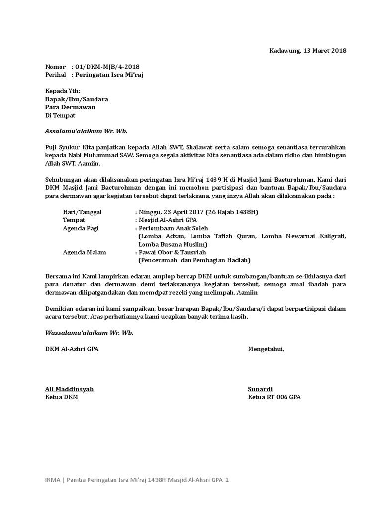Proposal Isra Miraj Irma Al Ashri Gpa 2017