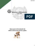 Bases para la formulación de dietas caseras para perros y gatos - 2014.pdf