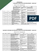 Jadwal Symposium II UNIID 2017