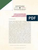 Carta Maximiliano a Ministro Escudero