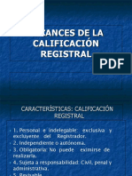 Alcances de La Calificacion Registral