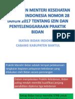 Peraturan Menteri Kesehatan Republik Indonesia Nomor 28 Tahun 2017