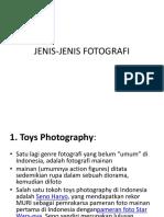 JENIS-JENIS FOTOGRAFI