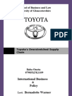 Toyota's Overstretched Supply Chain
