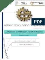 Metodos de Humidificacion y Deshumidifacion