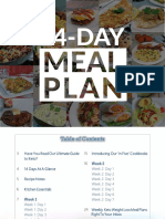 KETO 14 Day Meal Plan