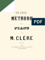 Petite Methode Du Piano M. Clere
