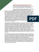 PDHPE - SPORTS MEDIECNE