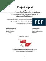 Pharma Mba Report