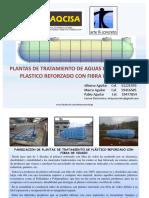 Presentacion de Tanques y Accesorios de Fibra de Vidrio Para PTAR