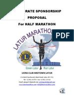 Corporate Sponsorship Proposal for Half Marathon