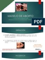 Manejo de Aborto