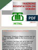Training Presentation on Ocb283