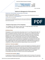 Clinical Practice Guidelines for Management of Schizophrenia