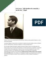 Confesiones Ineditas de Lorca