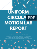 uniform circular motion lab report
