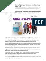 Fakta Kesaksian Asli Pengguna Produk Obat Peninggi Badan Grow Up Super Use