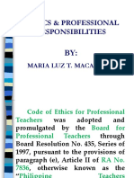 Code of Ethics for Professional Responsibilities FINAL