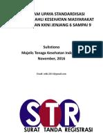 Sosialisasi STR Online