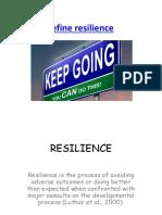2015 Resilience Strategies Essay