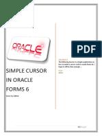 Simple Cursor in Oracle Forms 6
