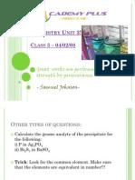 Chemistry VCE class 3