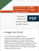 Sanggul Konde (Solo), Sanggul Dendeng (