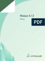 Abaqus 6.12 Glossary
