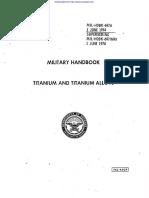 Material Properties Handbook Magnesium Nickel and Titanium Alloys MIL-697A