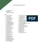 Tugas Parasitologi Sesuai Nomor Urut