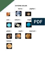 Planetes Sistema Solar