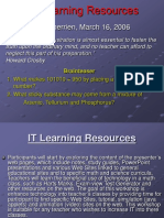 IT Learning Ressources CISE
