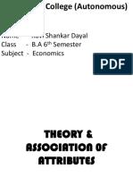 Ravi SD - Association of Attributes (Economics)