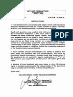 Taxation Questionnaire 2017