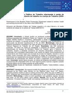 ELIMINADO BVS - ATUAÇÃO DO MINISTÉRIO PÚBLICO DO TRABALHO RELACIONADA À SAÚDE DO TRABALHADOR E MEIO AMBIENTE DE TRABALHO NA JUSTIÇA DO TRABALHO.pdf