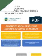 Celdo Chiriboga Beneficios Sociales de Los de Los Empleados y Trabajadores